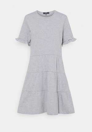 FRILL SLEEVE TIERED SMOCK DRESS  - Jersey dress - grey