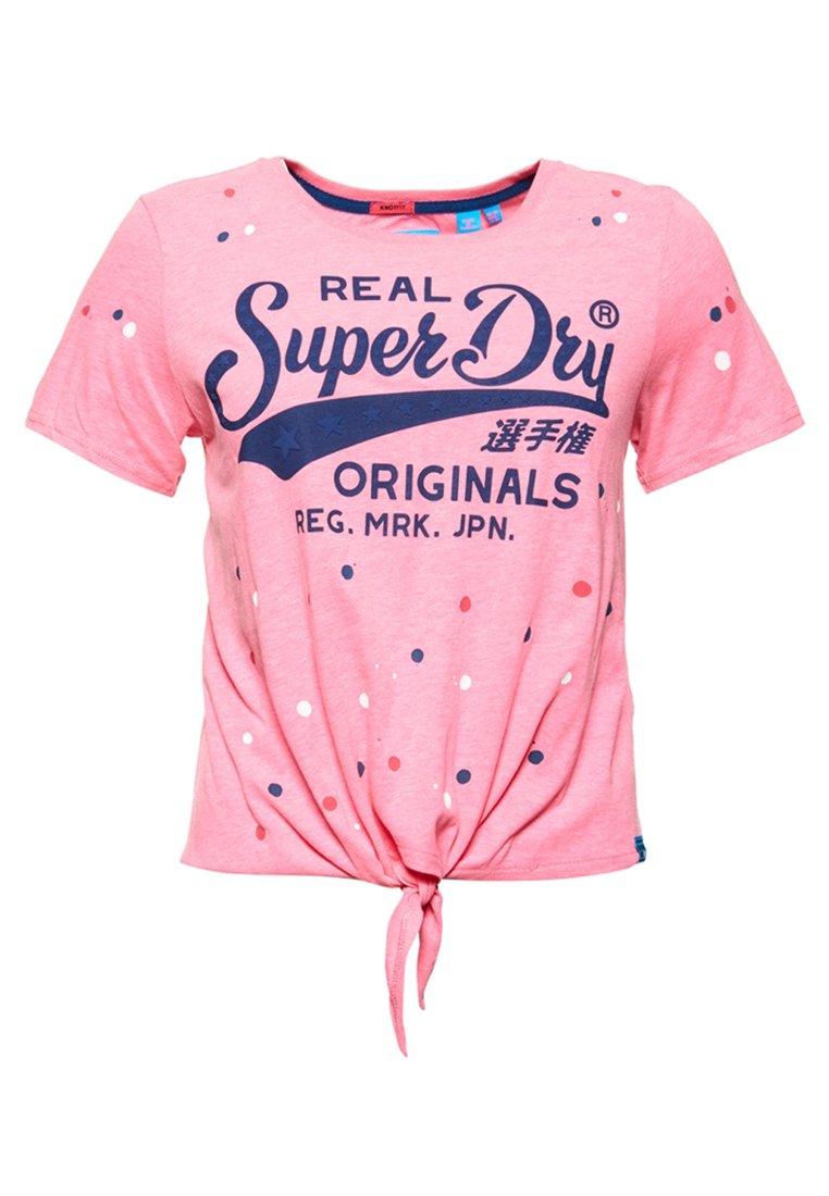 Superdry Damen La T-Shirt Mit Zierknoten Vorne