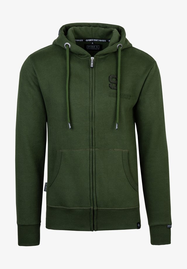 Zip-up hoodie - grün