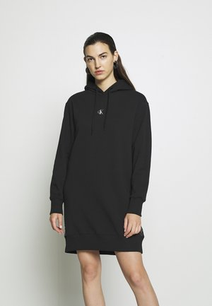 OUTLINE LOGO DRESS - Vapaa-ajan mekko - black