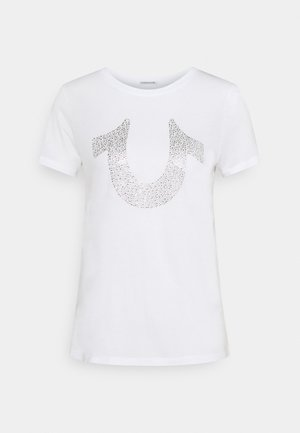 MORGAN LARGE TEE - Print T-shirt - white