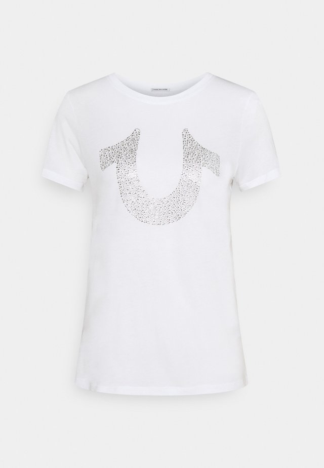 MORGAN LARGE TEE - T-shirt imprimé - white