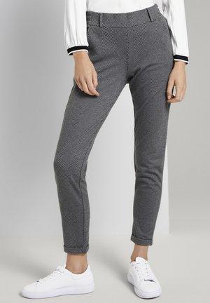 Pantalon classique - dark grey herringbone