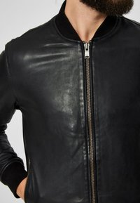 Selected Homme - SELECTED HOMME - Leather jacket - black - 3