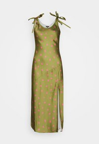 Who What Wear - TIE SHOULDER SLIP DRESS - Day dress - army/pink - 3