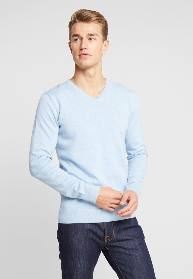BASIC V NECK  - Jumper - daylight blue melange
