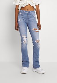 American Eagle - HI RISE SKINNY  KICK - Jeans Skinny Fit - classic vintage destroy - 0