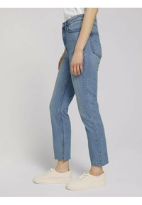 TOM TAILOR DENIM - Straight leg jeans - used mid stone blue denim - 5