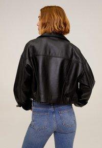 Mango - DANI - Leather jacket - black - 2