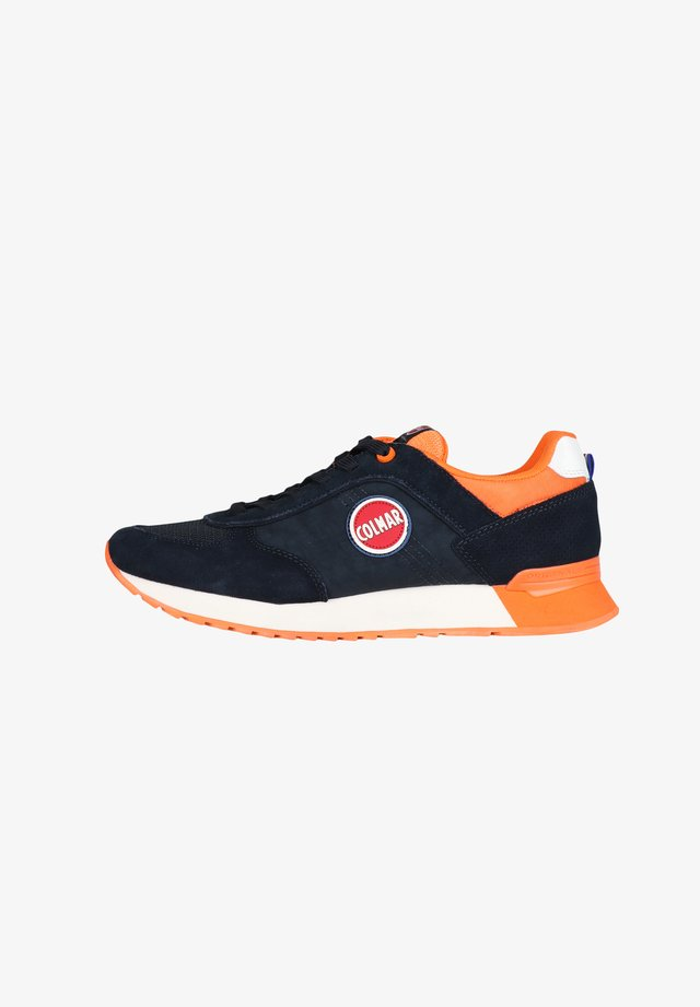 Baskets basses - navy / orange