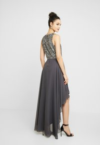 Lace & Beads - HANKERCHIEF HIGH LOW DRESS - Robe de cocktail - charcoal - 3