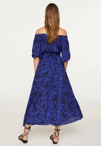OYSHO - OFF-THE-SHOULDER TWO-TONE DRESS 31998115 - Day dress - blue - 1
