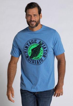 T-shirt print - blue stone