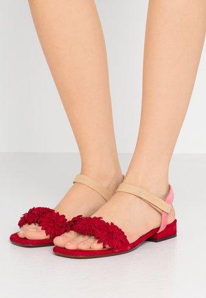 TALIS - Sandals - rojo/cherry/peach