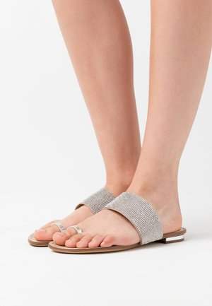 OLIRESSA - T-bar sandals - silver