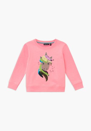 KIDS NEON FLIP UNICORN  - Sweater - lachs