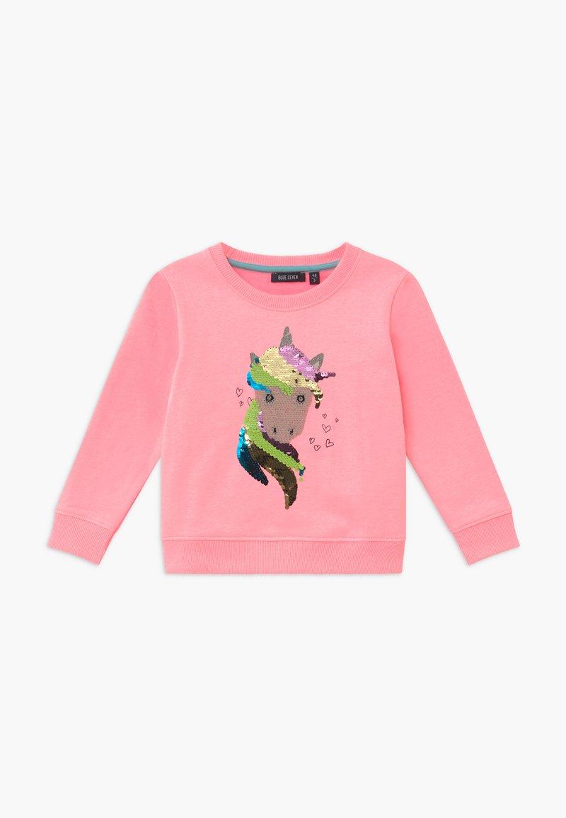 Blue Seven - KIDS NEON FLIP UNICORN  - Sweatshirt - lachs