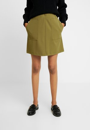 SRAMIGO SHORT SKIRT - A-line skirt - nutria