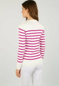 Armor lux - PULL MARIN GROIX EN COTON - Jumper - white/neon pink - 2