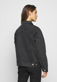 Missguided Petite - JACKET - Denim jacket - black - 2