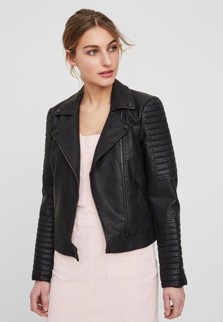 Noisy May - Faux leather jacket - black