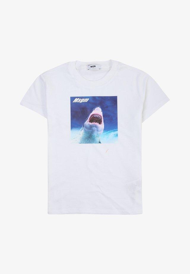 T-shirt print - bianco