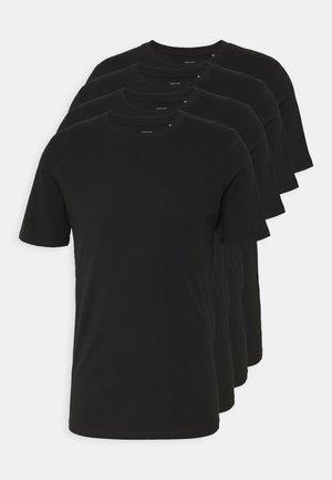 JACBASIC TEE CREW NECK 4 PACK - Pyjamapaita - black