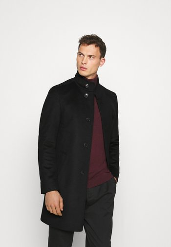 SOLID STAND UP COLLAR COAT