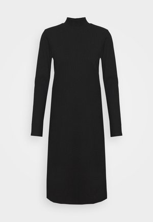 DEVA DRESS - Jerseykjole - black