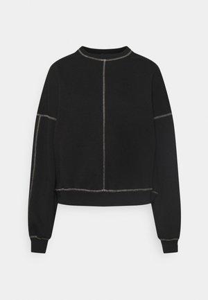 CONTRAST SEAM - Sweater - black
