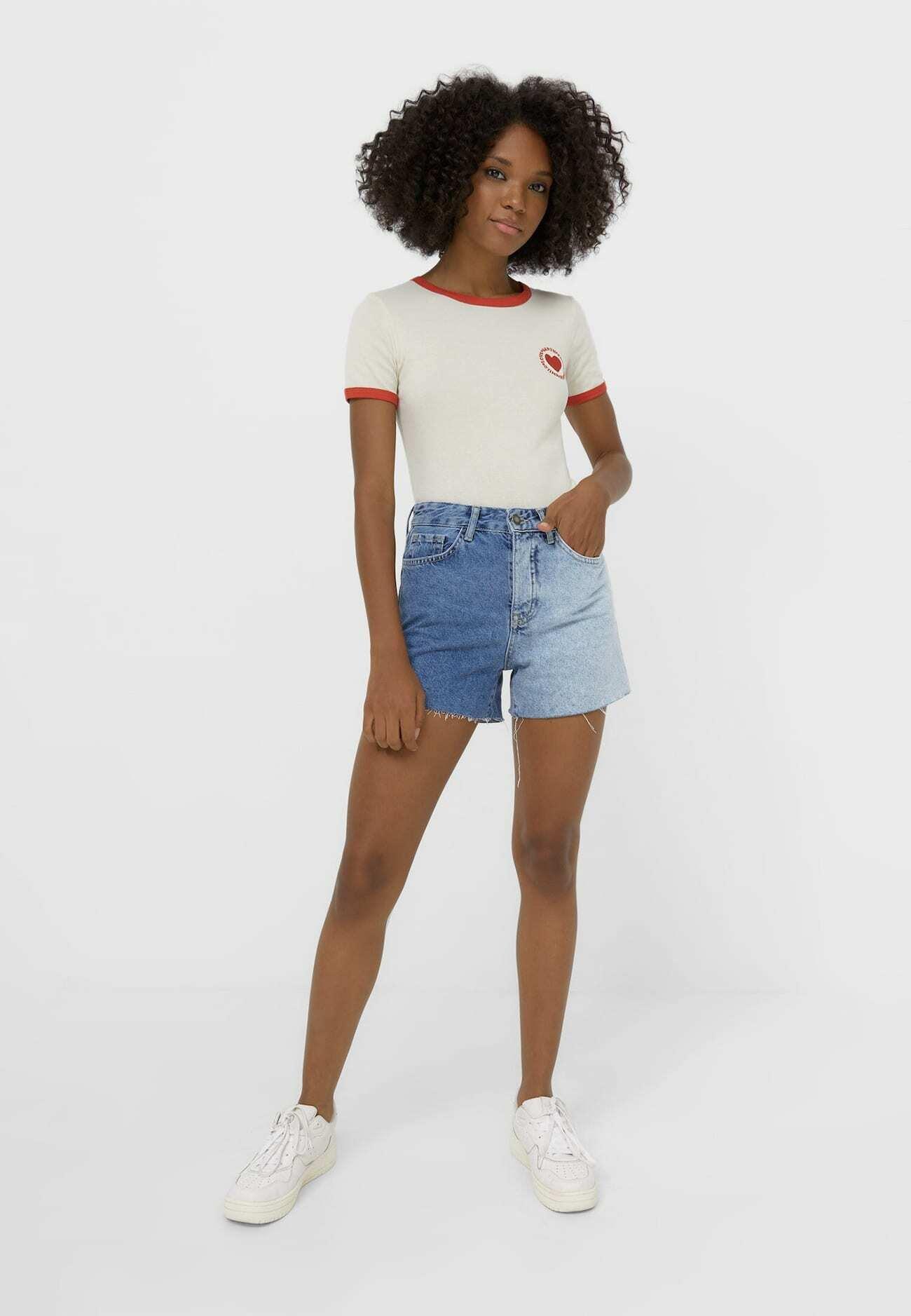 Damen MIT KONTRAST - T-Shirt print