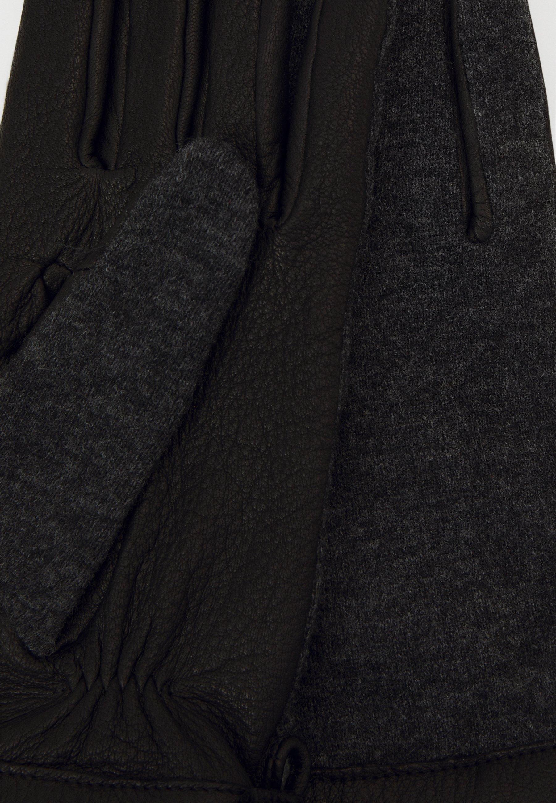 Otto Kessler Hansker - black/dark grey/svart bHWxy2QF5L3yt1I