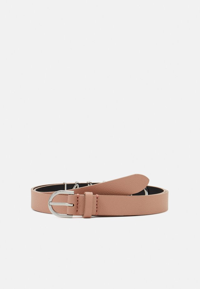 ROUND BUCKLE BELT CHARMS - Pásek - pink