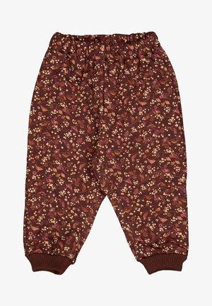 Trousers - maroon birds