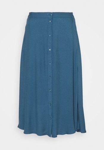 VIVISH BUTTON MIDI SKIRT TALL - A-line skirt - captains blue