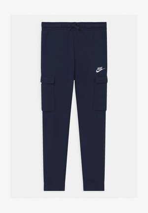 CLUB CARGO  - Tracksuit bottoms - midnight navy/white