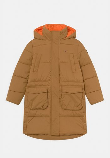MID LENGTH PUFFER - Winter coat - vintage brass