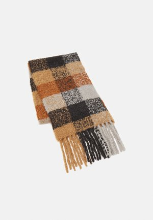 CHECK SCARF - Scarf - pecan brown