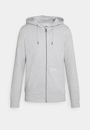 HOODY JACKET  - Huvtröja med dragkedja - light stone grey melange