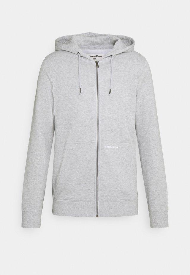 HOODY JACKET  - Mikina na zip - light stone grey melange