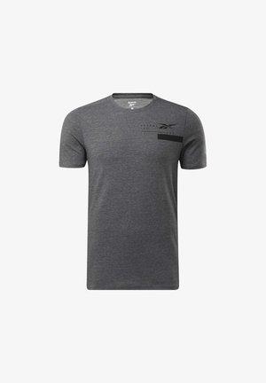 ACTIVCHILL+COTTON T-SHIRT - Print T-shirt - black