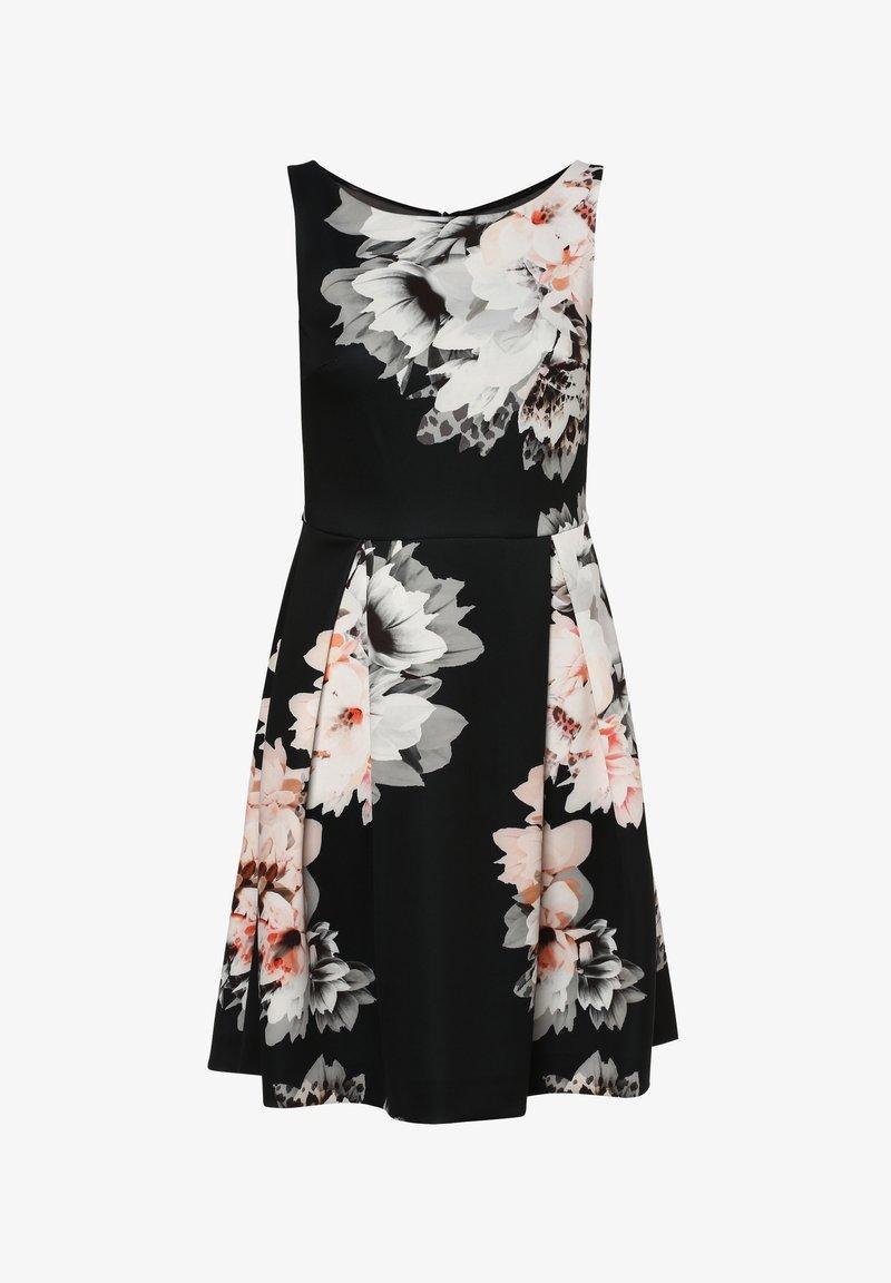 Swing - Day dress - schwarz mehrfarbig