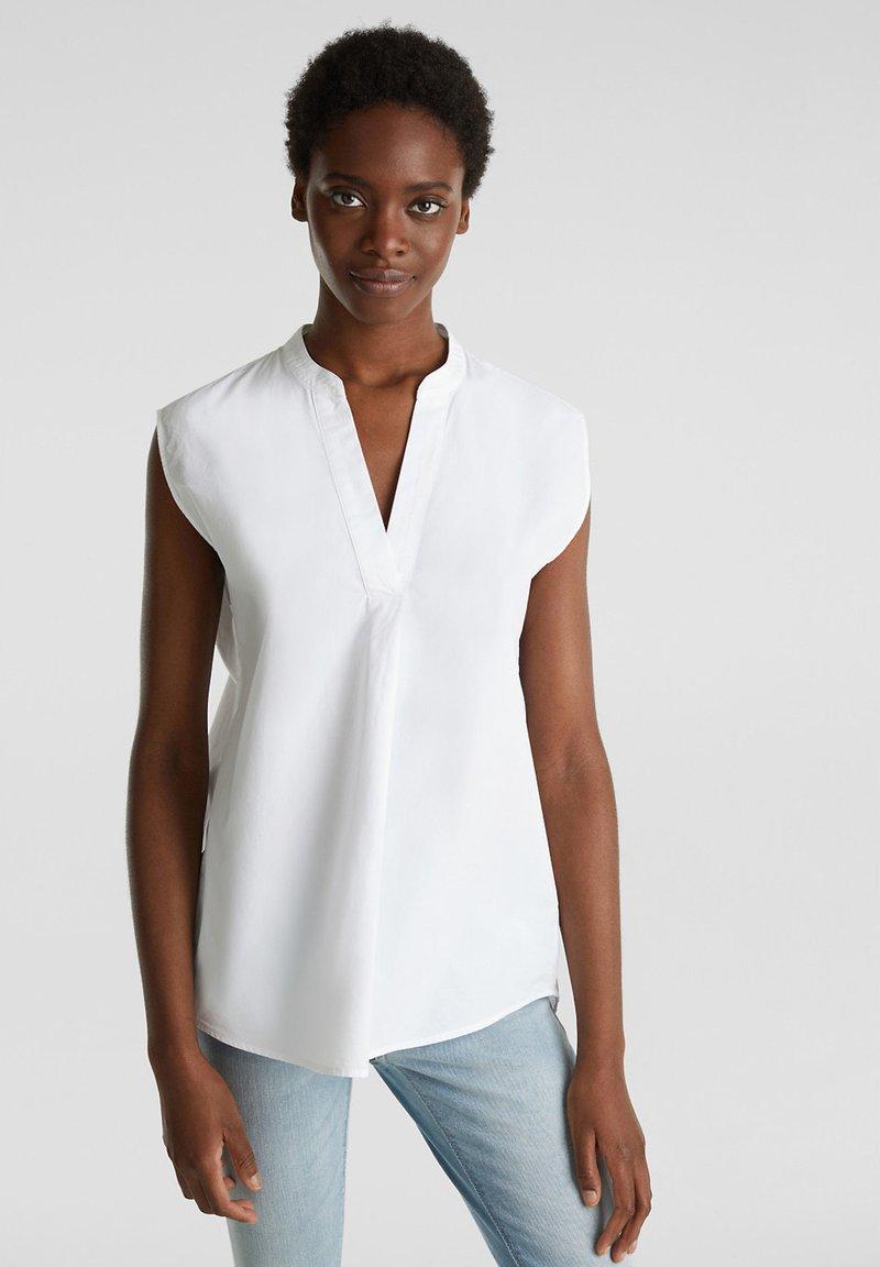 Esprit - BLUSEN-TOP AUS 100% BIO-BAUMWOLLE - Camicetta - white