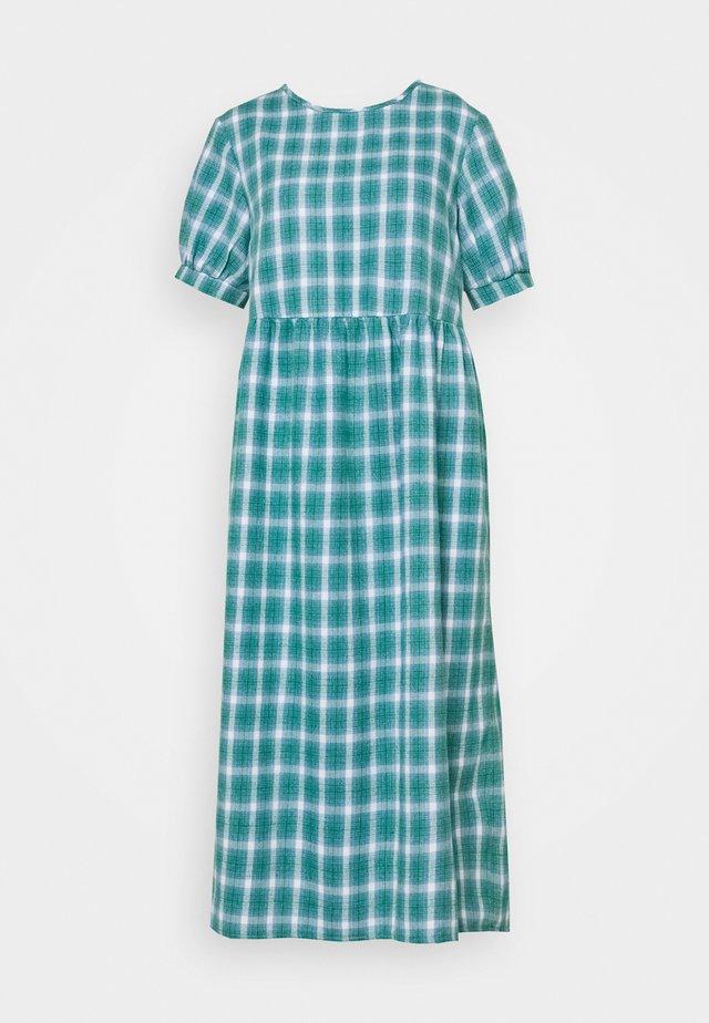 PUFF SMOCK DRESS CHECK - Day dress - green