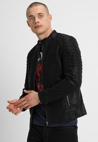 Only & Sons - ONSSACHO - Faux leather jacket - black - 0
