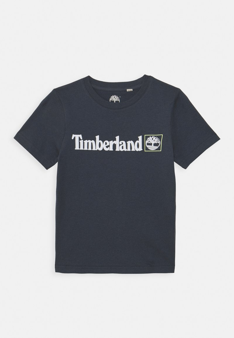 Timberland - SHORT SLEEVES TEE - Print T-shirt - medium grey