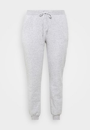 VMKOKO PANT CURVE - Tracksuit bottoms - light grey melange
