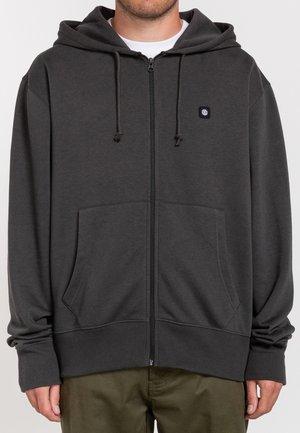 Zip-up hoodie - off black