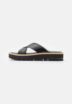 ROZA LIFT SLIDE - Pantofle - black