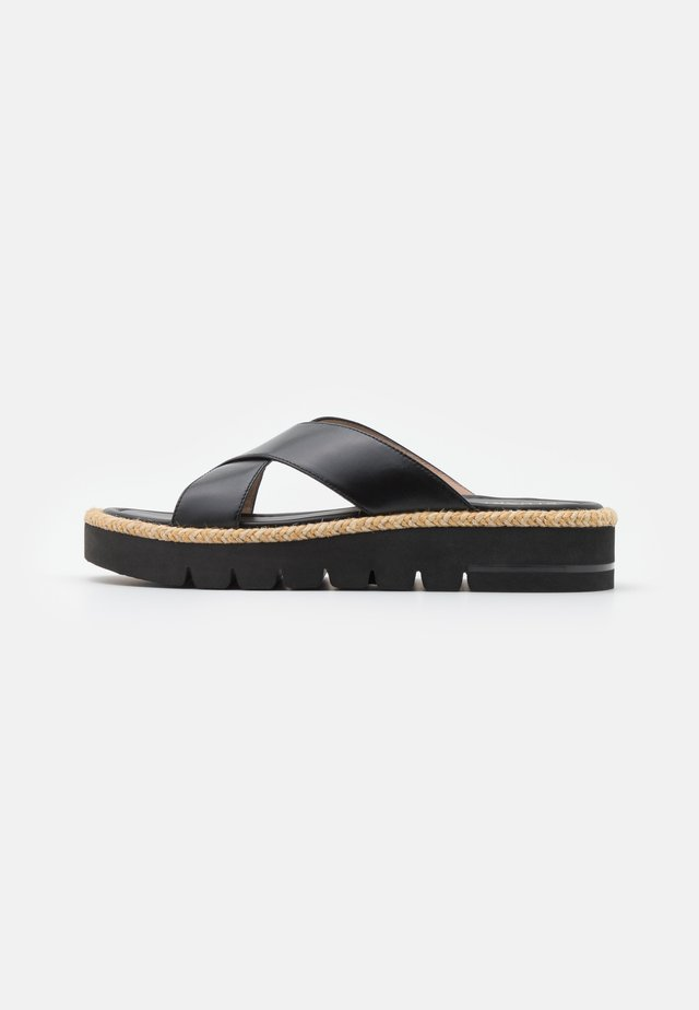 ROZA LIFT SLIDE - Pantolette flach - black